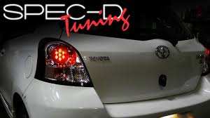Toyota Yaris Stop Light Bulb Specdtuning Installation Video 2006 2008 Toyota Yaris Hatchback 3dr Led Tail Lights
