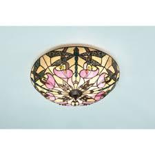 ashton tiffany flush fitting ceiling light for low ceilings