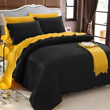 luxury black and gold trendy reversible zippered 100 organic cotton full queen size bedding sets