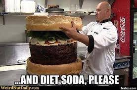 Supersize Burger with a Diet Soda Meme Generator - Captionator ... via Relatably.com