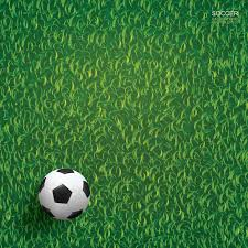 green grass soccer field. Soccer Football Ball On Green Grass Of Soccer Field Background. Premium  Vector