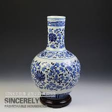 jingdezhen ceramic vase chinese style flower vase blue and white porcelain interlocking lotus colorful vases coloured glass vases from lucysgj