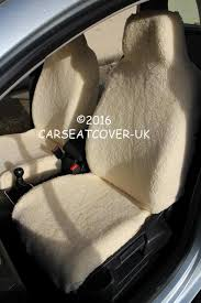 mini cooper s luxury faux sheepskin fur car seat covers front pair