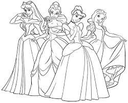 Small Picture Printable Disney Princess Coloring Pages Background Coloring