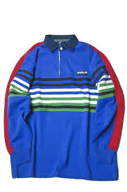 polo sport ralph lauren polo sports ralph lauren multicolored horizontal stripe rugby shirt m blue red green long sleeves tops