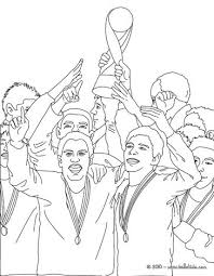 Small Picture Soccer team receiving the trophy coloring pages Hellokidscom