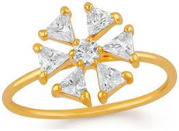 Buy Mahi Gold plated Festive Jewelry Floral love <b>triangular petals</b> ...