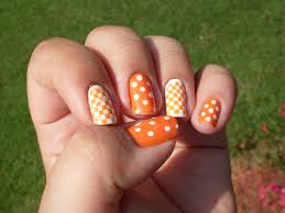 Tennessee Football Nail Designs Tennessee Vols Nail Art Tennessee Nails Tiger Nail Art