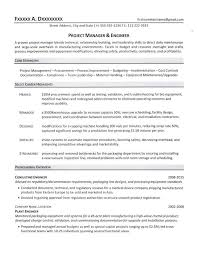 Projects On Resume Project Manager Resume