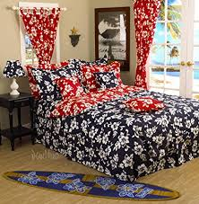 hawaiian duvet covers.  Hawaiian Hawaiian Bedding Duvet Cover  Queen Reversible Hibiscus Design W 2 Navy  Shams To Covers N