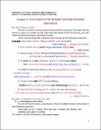 the fourth step in essay writing revising sentences university this preview has intentionally blurred sections sign up to view the full version