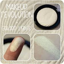 makeup revolution highlighter golden lights makeup
