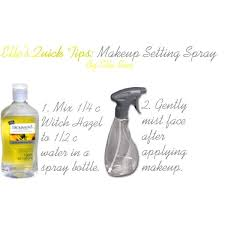 diy makeup setting spray mix 1 4 cup of witch hazel and