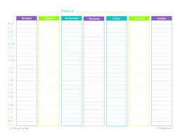 Weekly Calendars With Hours Hour By Calendar Template Weekly With Hours Excel Editable