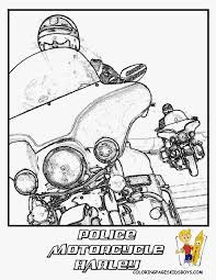 Harley Davidson Police Motorcycle Coloring Page