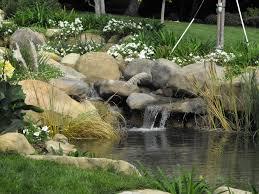 small santa barbara pond with waterfall