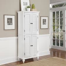 White Stained Wood Kitchen Cabinets White Stained Wood Kitchen Cabinet With Double Door Among Two Wall