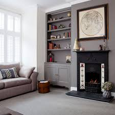 informal green wall indoors. Grey-living-room-ideas-feature-wall Informal Green Wall Indoors