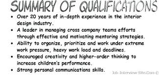Skills And Abilities Example Resumes Example Of Resume For Job Interview Resume Qualifications Examples