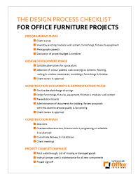 Design System Checklist The Design Process Checklist Office Interiors