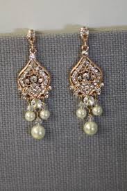 best bridal earrings swarovski crystal pearl gold chandelier rose wedding sterling silver and diamond clear tragus