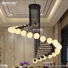 modern loft chandelier lights bar stair dining room lighting retro meerosee chandeliers lamps fixtures res chandeliers on outdoor