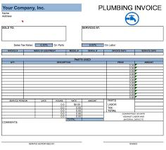 Plumbing Invoice Free Plumbing Invoice Template Excel Pdf Word Doc Plumbing Estimate