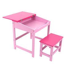 premier housewares children s desk and stool set pink co uk kitchen home