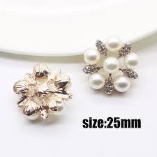 fashion hot 10pcs 25mm diamond alloy diy jewelry accessories flat back imitation pearls base settings whole handmade ing