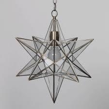 large glass star pendant light antique brass fixture