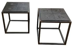 Cast Iron Star Side Table Industrial Side Tables And End Wrought Iron End  Tables