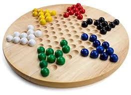 Wooden Game With Marbles All Natural Wood Chinese Checkers with Wooden Marbles by Brybelly 69