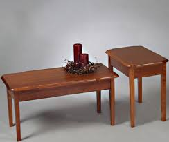 The gorgeous set comes in a dark cherry finish and is made from solid wood, wood veneer and composites. Bellecraft Cherry Coffee End Table Set 9130 9132 Bellecraft U S A