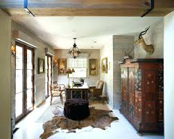 faux animal hide rugs skin ideas for traditional home office with wood walls faux animal hide rugs