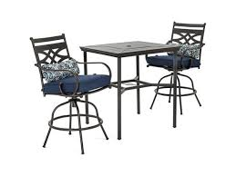 navy blue with 2 swivel chairs