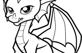 Baby Dragon Coloring Pages Free Printable Tales Truyendichinfo