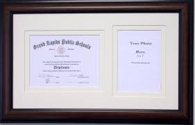 diploma frames with photo openings certificate 6x8 graduation diploma certificate photo frame matted holds 6 x 8 certificate with 5 x 7 photo double