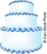 blue wedding cake clipart. Modren Wedding Three Tiers Of Cake  Wedding In Three Tiers Vector In Blue Cake Clipart T