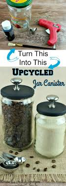 Cute Jar Decorating Ideas Upcycled Jar Canister Crafts Reuse and Upcycle 97