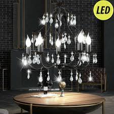 Hänge Zimmer Wohn Kronleuchter Led Glas Leuchte Beleuchtung