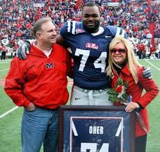 ing on movie review the blind side pictured above are the real sean michael and leigh anne at ole miss