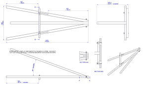 lightweight tripod easel plan assembly 2d drawing