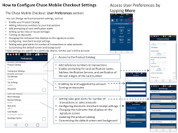 chase mobile checkout settings