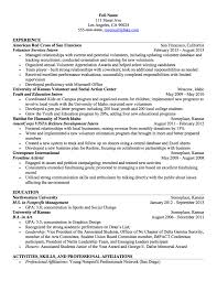 Non Profit Resume Example Los Angeles Resume Service