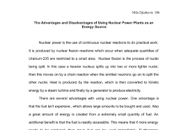 the advantages and disadvantages of usingnuclear power plants as  document image preview