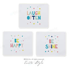 Nordic Style Kawaii Funny Cute Quotes Colorful Custom Prints Personalized Girls Gifts Laptop Gaming Computer Mouse Pads Mats Set