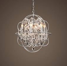 gorgeous small crystal chandelier foucaults orb crystal chandelier for modern property nickel orb chandelier decor