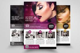 Hair Salon Flyer Template Beauty Salon Flyer Template Flyer Templates Creative Market 1