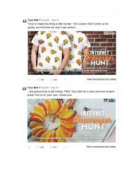 Web Design Scavenger Hunt Taco Bell Digital Scavenger Hunt Deutsch Adforum Com