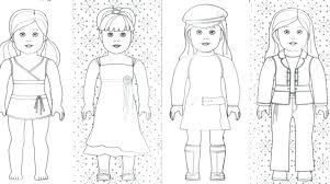 American Girl Coloring Pages Free Girl Doll Coloring Pages Also Girl